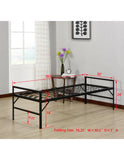 "Black Metal 30"" or 39"" Twin Flat Folding Guest Bed Frame - Pilaster Designs"