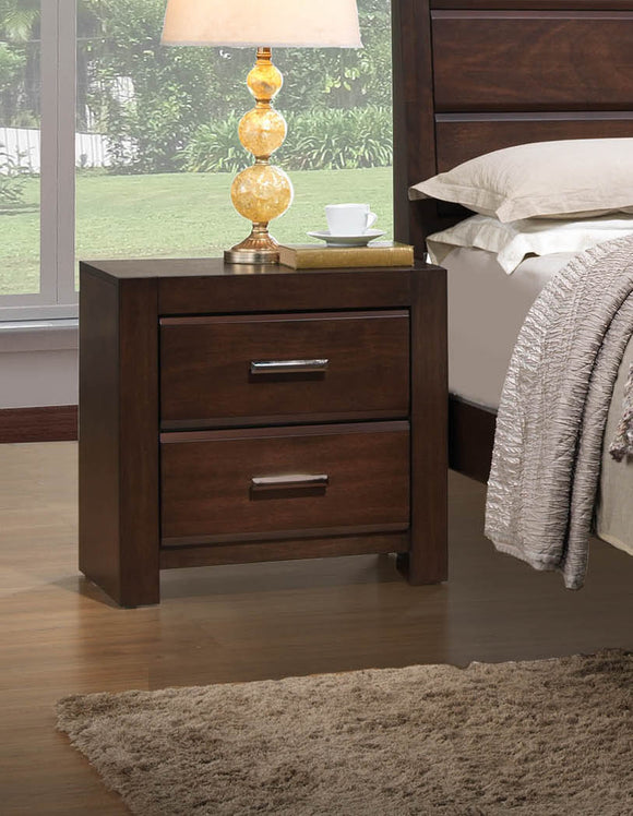 Millie Nightstand, Walnut Wood