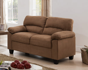 Joyland Loveseat, Brown Fabric