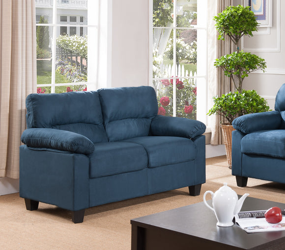 Joyland Loveseat, Blue Fabric