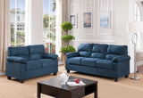 Joyland 2 Piece Living Room Set, Blue Fabric