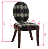 Tessa Accent Dining Chair, Black