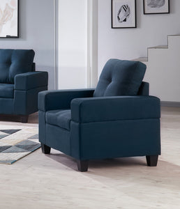 Boutwell Chair, Blue Fabric
