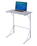 Oakley Metal & Wood Dorm Laptop Table Workstation Stand (Black, White, Cherry) - Pilaster Designs