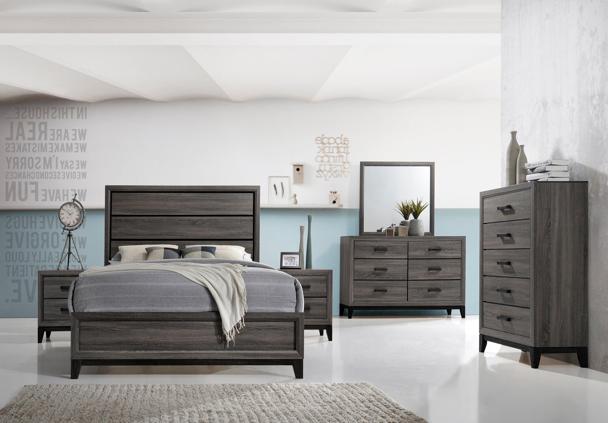 Asheville Configurable Modern Panel Bedroom Set Queen Or King
