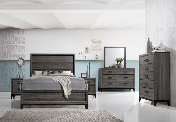 Asheville Configurable Bedroom Set, Gray Wood - Pilaster Designs