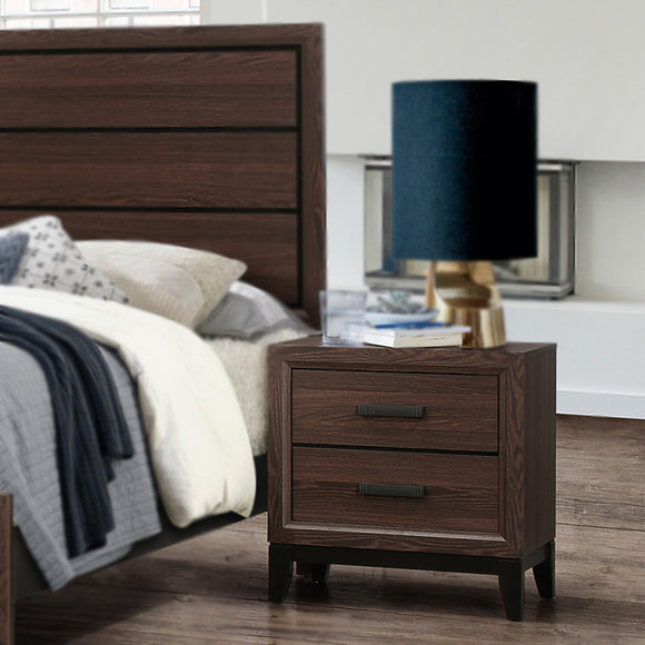 Asheville Nightstand, Brown Wood