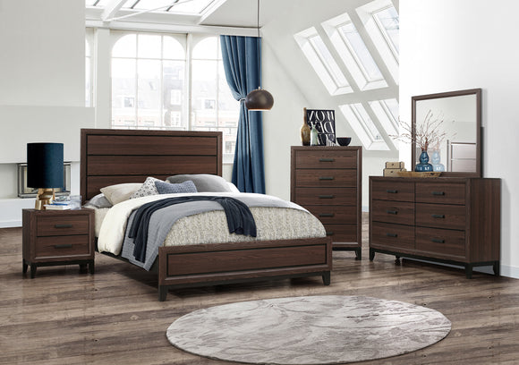 Asheville Configurable Bedroom Set, Brown Wood - Pilaster Designs