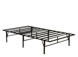 Black Metal Heavy Duty Platform Slat Bed Frame Mattress Foundation (Twin, Full, Queen, King) - Pilaster Designs