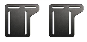 "Black Metal Headboard Connector Modification Brackets Modi-Plates For Bed Frame (Set Of 2) (5""W x 5""H) - Pilaster Designs"