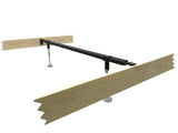 Metal Heavy Duty Center Support Rail System For Bed Frame (Adjustable Height) (Twin, Full, Queen, King, California King) - Pilaster Designs