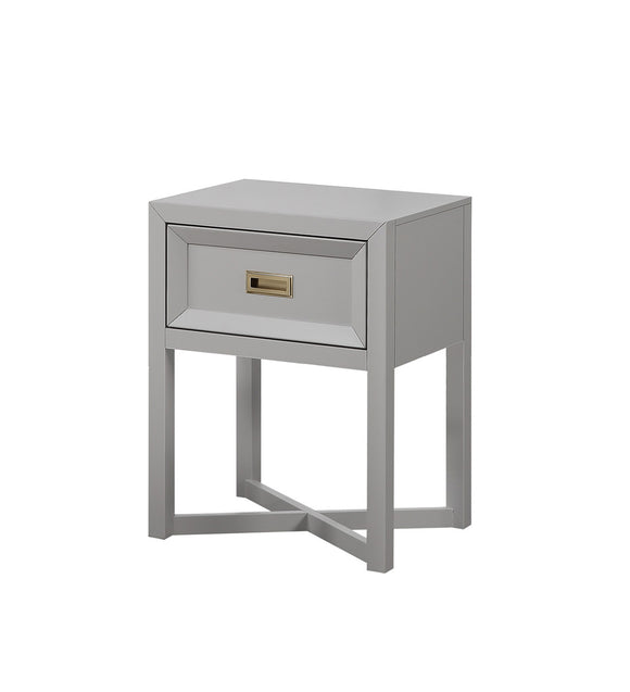 Victoria Nightstand, Dove Gray Wood