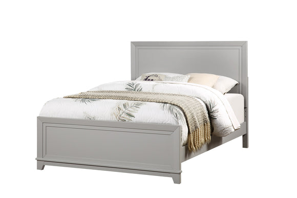 Victoria Panel Bed, Dove Gray Wood, Full