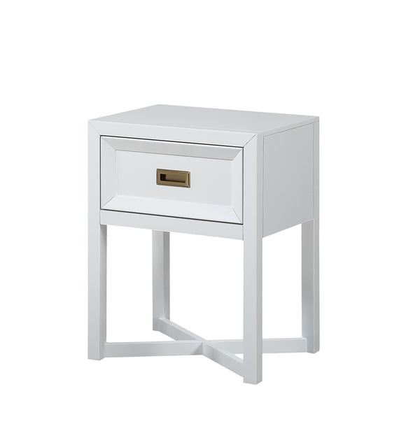 Victoria Nightstand, Soft White Wood