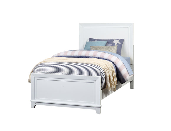 Victoria Panel Bed, Soft White Wood, Twin