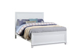 Victoria Panel Bed, Soft White Wood, Full