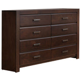 Millie 4 Piece Bedroom Set, Queen, Walnut Wood
