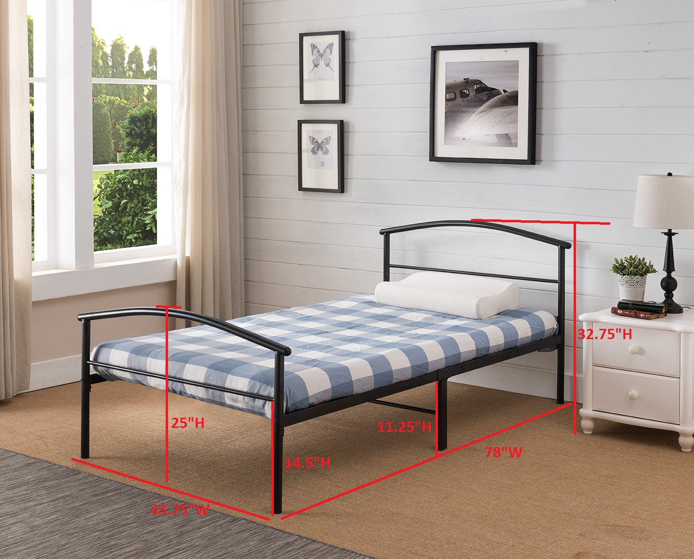 inch pin size metal priage fullmetal frame frames queen for less bed platform