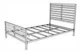 Sacramento Metal Bed Frame, Twin, Bronze
