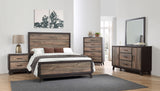 Calista Rustic Mahogany With Solid Wood Dark Ebony Frame Configurable Panel Bedroom Set - Pilaster Designs