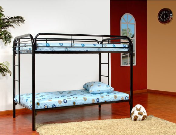 Suburban Bunk Bed, Twin, Black Metal