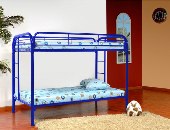 Suburban Bunk Bed, Twin, Blue Metal