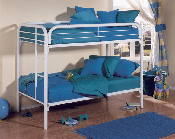 Suburban Bunk Bed, Twin, White Metal