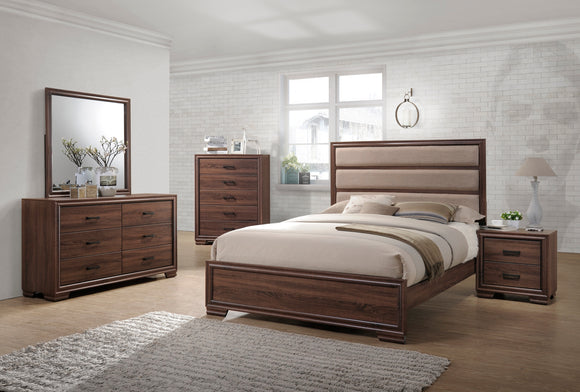 Carina Chocolate Wood Contemporary Configurable Panel Bedroom Set - Pilaster Designs