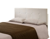 Jayda Adjustable Headboard, White Faux Leather