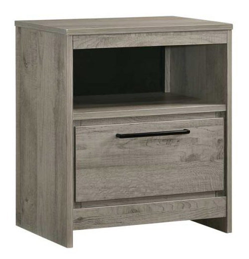 Manhattan Nightstand, Light Gray Wood