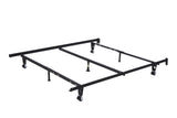 Metal Adjustable Queen, Full, Full XL, Twin, Twin XL, Super Strong Heavy Duty Bed Frame With Center Support Rail, 7 Legs, 3 Center Support, 2 Rug Rollers and 2 Locking Wheels - Pilaster Designs