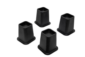 "5"" Black Bed Risers, For Furniture, Beds, Tables, Chairs, Sofas  (Set Of Four) - Pilaster Designs"