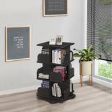 Hartwick 3 Tier Revolving Bookcase, Black Wood