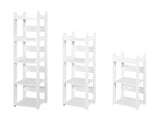 Margo 4 Tier Bookcase, White Wood