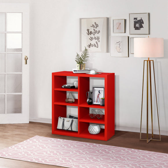 Arlene Cube Bookcase, Red Wood