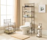 Copper Iron Shelf Storage Bathroom Towel Rack Stand Organizer - Pilaster Designs