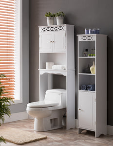 Lichfield 2 Piece Bathroom Set, White Wood