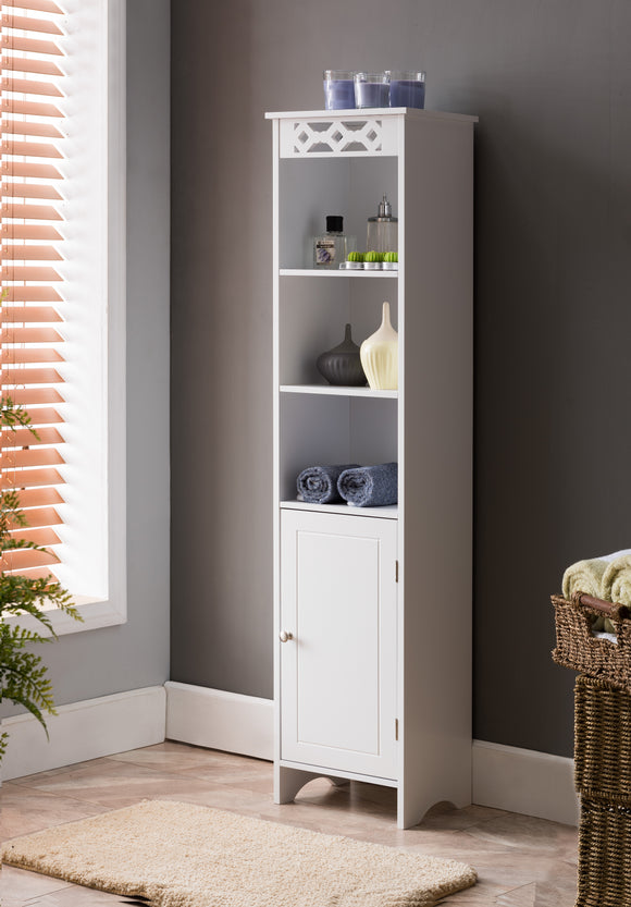 Lichfield Freestanding Storage Tower, White Wood