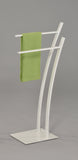 Taavi Freestanding Towel Rack, White Metal