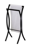 Coronado Towel Rack, Black Metal