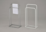 MacLaren Freestanding Towel Rack, Chrome Metal