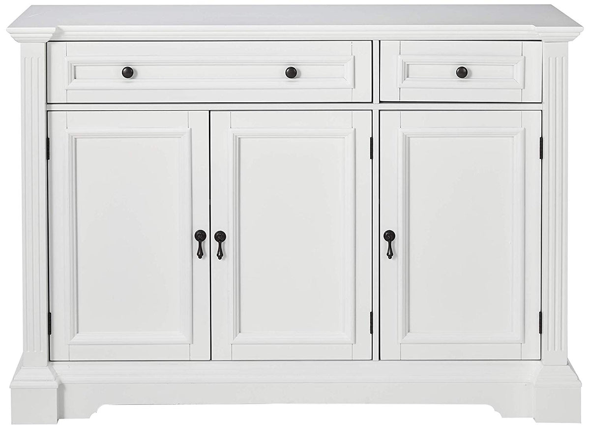 Liam White Wood Contemporary Sideboard Buffet Console