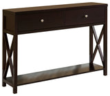 Ethan Console Table, Dark Cherry Wood