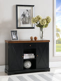 James Sideboard Buffet, Black & Walnut Wood