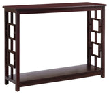 Alex Console Table, Dark Cherry Wood