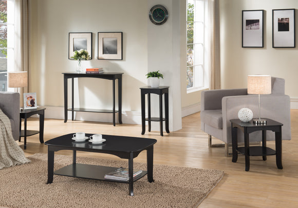 Carter 5 Piece Living Room Table Set, Espresso Wood