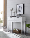 Patrick Console Table, White Wood