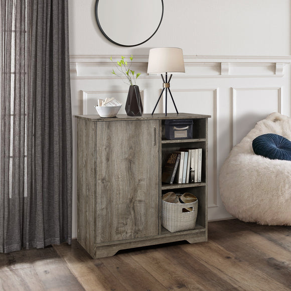 Dozer Accent Cabinet, Oak Wood