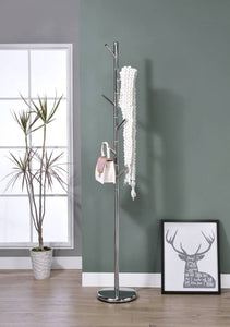 Barric Coat & Hat Rack, Chrome Metal