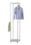 Hambleton Coat & Hat Rack, White Metal